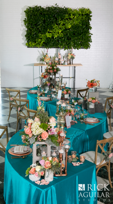 serpintine wedding table