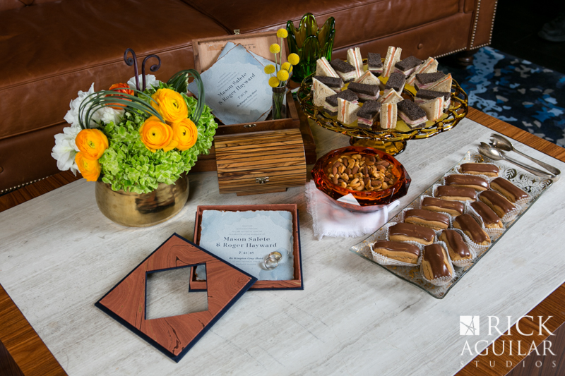 wedding sweets with invitation